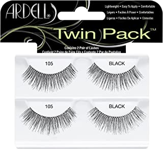 Ardell Twin Pack Lashes for Women, No. 105 Black