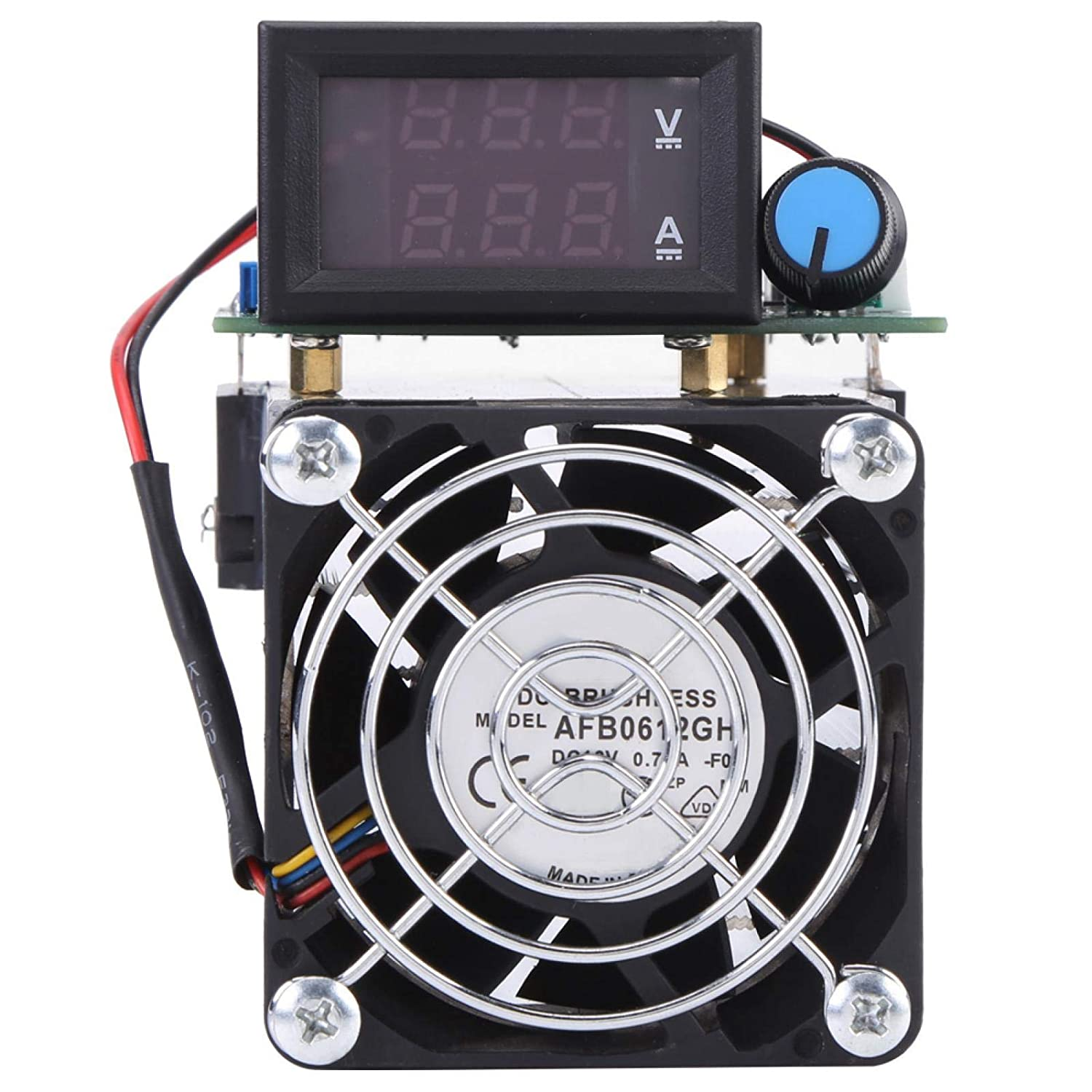 DC 12V Electronic Load Module,Discharge Battery Capacity Tester Testing Module,with Industrial Large Tooth Heat Sink,Dust-Resistant,0-10A 100W