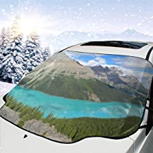 Peyto Lake Banff NP Canada Car Windshield Snow Cover Protection,Snow,Ice,UV,Frost Defense,Extra Large Windshield Winter Cover Fits Most Cars and SUV