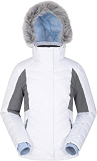 Mountain Warehouse Powder Womens Padded Ski Jacket - Snowproof Ski Wear, Detachable Snowskirt Winter Ski Coat, Pit Zips, Adjustable Hood & Hem - Ideal for Snowboarding