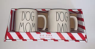 Rae Dunn Artisan Collection Set Mugs Coffee Cups DOG MOM DOG DAD pet parents