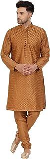 Seda Kurta Pijama (Camisa Larga y Pantalón) para Hombre