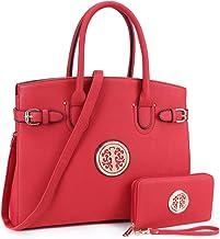 Women's Handbag Large Tote Satchel Purse Top Handle Shoulder Bag Work Bag with Wallet
