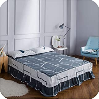 Home Textile 100% Cotton Bed Skirt Ruffled Bed Sheet Set Twin Queen King Size Bedcover Bedsheet Reactive Printing Bedspread 3pcs,yiyukongjian,120cm200cm