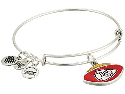 Alex and Ani Color Infusion Kansas City Chiefs Football II Bangle (Rafaelian Silver) Bracelet