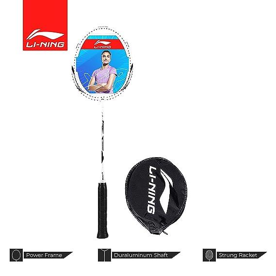Li-Ning XP-90-IV Aluminum Badminton Racquet (White/Silver)