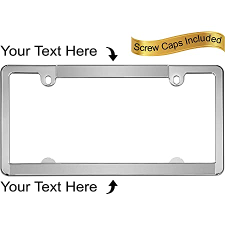 Details about  /Mirror Chrome License Plate Frame OPTIMA Laser Engraved Metal Screw Cap