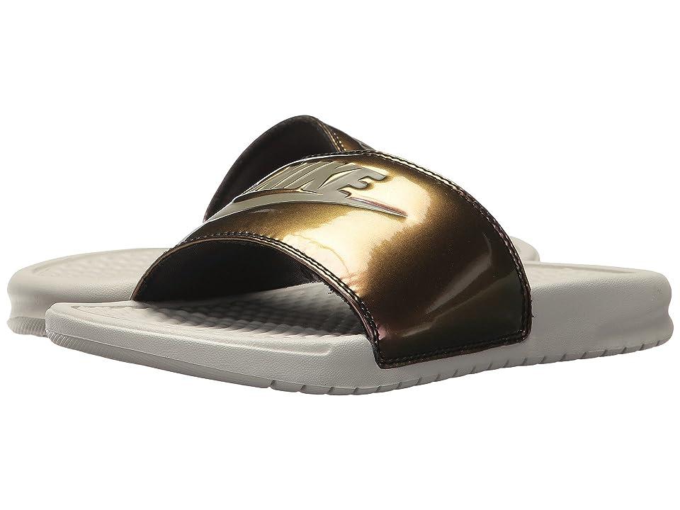 Nike Benassi JDI Slide (Light Bone/Medium Olive) Women