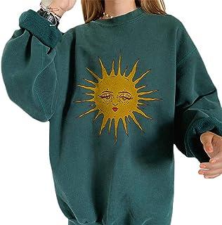 Streetwear 90s Indie Clothes Aesthetic Crewneck Sweatshirts Long Sleeve Print Urban Fashion Skater