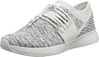 FITFLOP Women's Artknit Lace-Up Urban White Mix 8.5 M US
