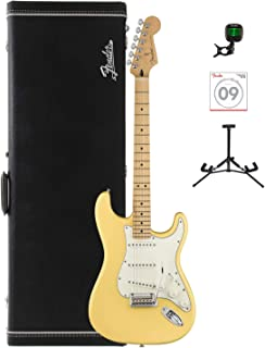 Fender Player Stratocaster Electric Guitar - Maple Fingerboard - Buttercream with Tuner, Strings, Stand and Hard Case