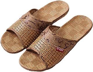 TENDYCOCO Chanclas de Paja Zapatillas con Punta Abierta Bath SPA Summer Sandal para Hombres