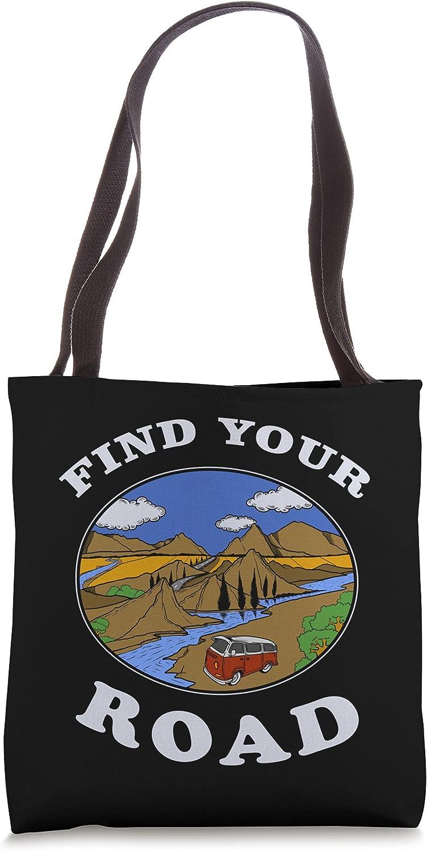 Find Your Road Traveling Lover Tote San Antonio Mall Wanderer Bag Adventurer Trip Award