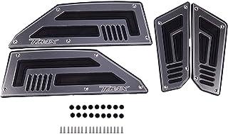 Color : Silver TMAX LOGO LIWIN Moto Accessori Pedana Steps pedane del motociclo for YAMAHA TMAX 530 TMAX TMAX530 530 2012 2013 2014 2015 2016 poggiapiedi Pioli Pads piastra