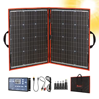 Dokio 110W 18V Portable Foldable Solar Panel Kit