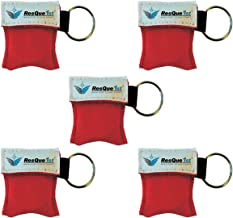 CPR Mask Key Chain Kit (5-Pack) - CPR Pocket Mask CPR Kit Face Shield with One-Way Valve, by ResQue1st