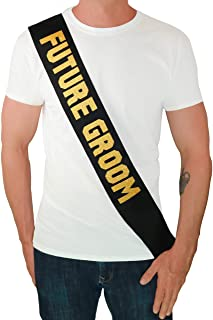Future Groom Sash - Bachelor Party Supplies Engagement Party Wedding Shower Accessories