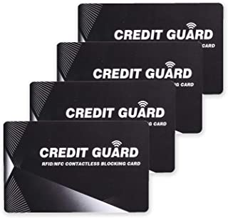 RFID Blocking Card | NFC Contactless Cards Protection | 1 Card Protects Your Entire Wallet | No More Need for Single Sleeves | for Men or Women, Credit Card Holder, Wallets or Passport