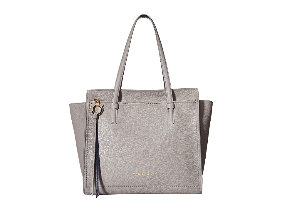 Salvatore Ferragamo 21F216 Amy (Pale Grey Navy) Handbags 21bba10f83197