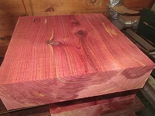 (Woodworking Lumber) Large Beautiful Eastern RED Cedar Bowl Blank Lathe Lumber Carve 8 X 8 X 4