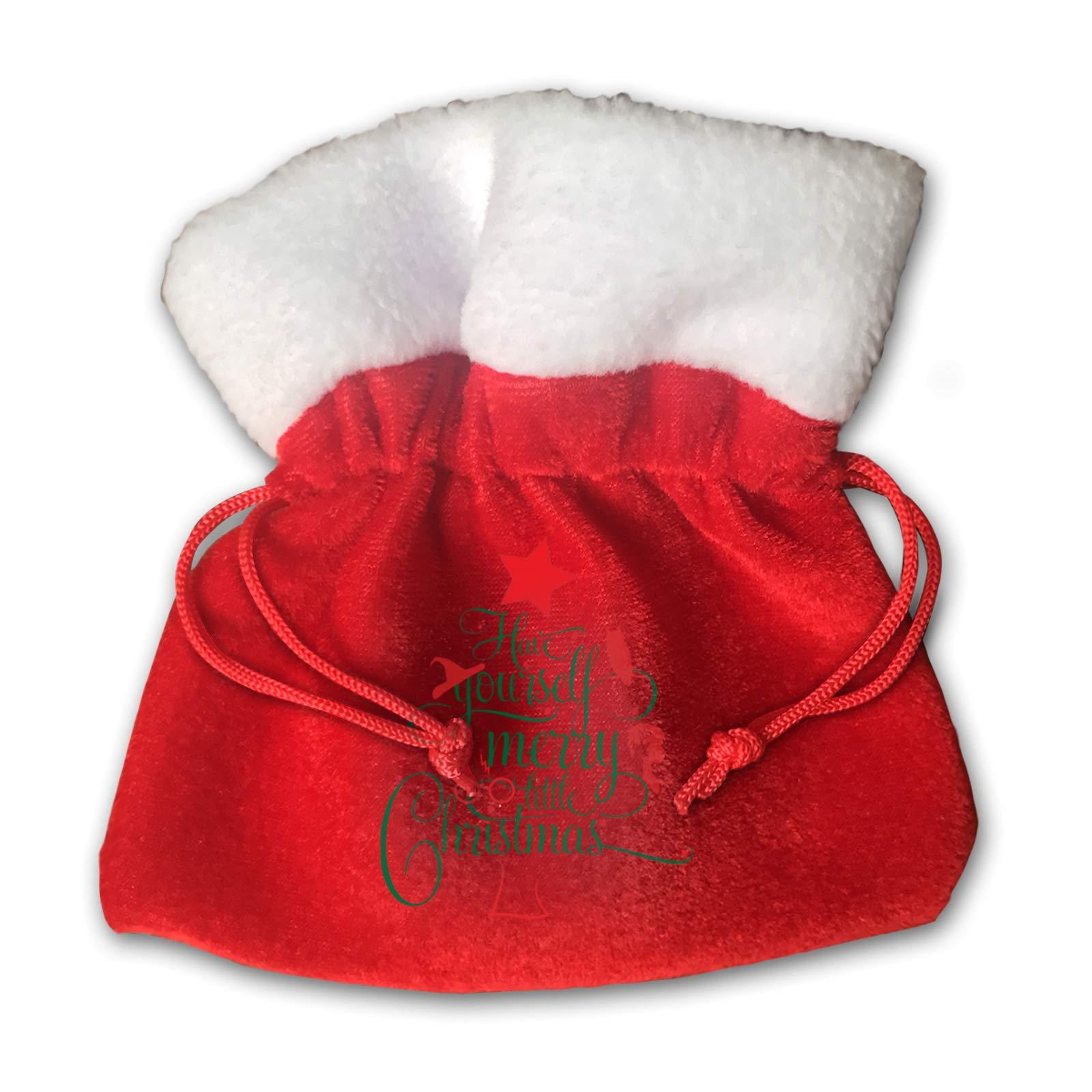 Thomasa Harry-Potter Christmas Christmas Bag Santa Sack with Drawstring Red Gift Bag Backpack for Christmas Party Supplies Small