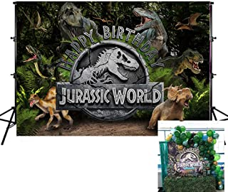 Mohoto Kids Photo Backgrounds, Jurassic World Photography Backdrops, 3D Dinosaur Park Bakground Birthday Party Banner Studio Photo Booth for Teens, Boys, Girls 7X5ft