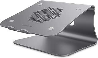 Bestand Laptop Stand Ergonomic Aluminum Ventilated Desktop Stand for MacBook Mount & Holder for Apple MacBook Air, MacBook Pro, All Notebooks, Grey (Patented)