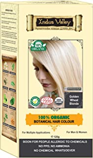 Indus Valley 100% Botanical 100% Organic Golden Wheat Blonde Natural Hair Dye for Sensitive Skin, Lactating women & For Allergy Sufferers- 120 gm