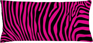 Ambesonne Pink Zebra Throw Pillow Cushion Cover, Animal Wilderness Pattern Jungle Mammal Fashion Boho Graphic, Decorative Rectangle Accent Pillow Case, 36