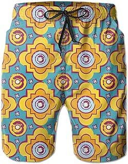 Beach Shorts for Man Fit Quick Dry Seamless Byzantine Style Background Dress Prints Pants Pockets Swim Trunks