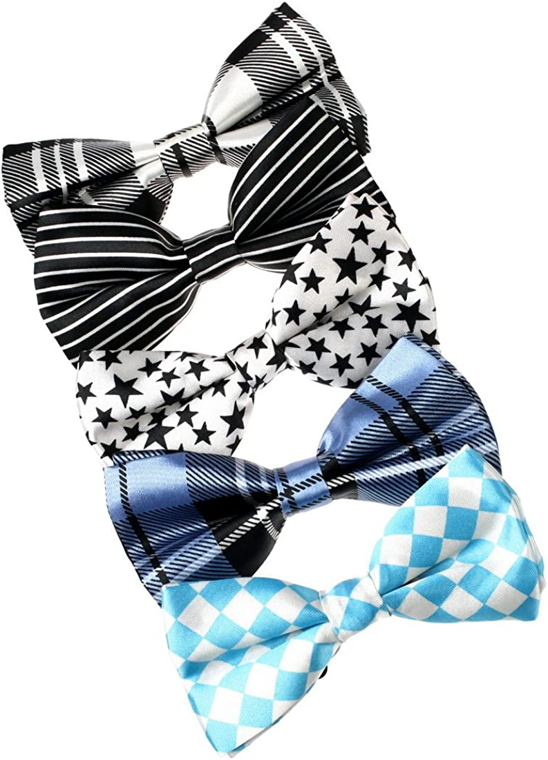 Dan Smith Men's Fashion Fashion Bow Ties Set 5in1 With Box