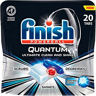 Finish Quantum with Baking Soda Detergent Tablets, 20 Count (Pack of 8)