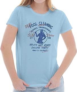 Brisco Brands Nerdy Cleaning Service Comic Book Superhero Ladies T Shirt