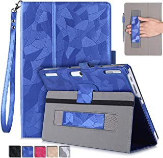 Jasilon Lenovo Tab2 X30F/TAB-X103F/TB3-X70/A10-30f/Case, Premium PU Leather Folio Stand Cover with Hand Strap Compatible with Lenovo Tab2 A10-70f/TAB-X103F Tab 10/Tab3 10 Business Tablet (Blue)