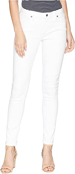 Five-Pocket Mid-Rise Skinny Jeans in White