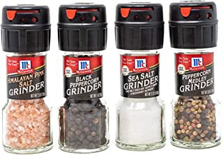 McCormick Salt & Pepper Grinder Variety Pack (Himalayan Pink Salt, Sea Salt, Black Peppercorn, Peppercorn Medley), 0.05 lb