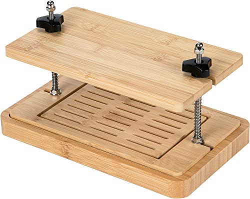 wholesale Yueshico Bamboo Tofu Press- 3 Layer Tofu Presser Drainer and Drip Tray Easily outlet sale Remove 2021 Excess Water from Tofu for More Delicious, Safe for Dishwasher online