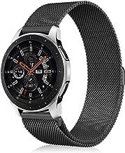 Fintie Correa para Samsung Galaxy Watch 46mm / Gear S3 Classic / Gear S3 Frontier [Tamaño Pequeño] - 22mm Pulsera de Repuesto de Acero Inoxidable Ajustable Banda, Negro