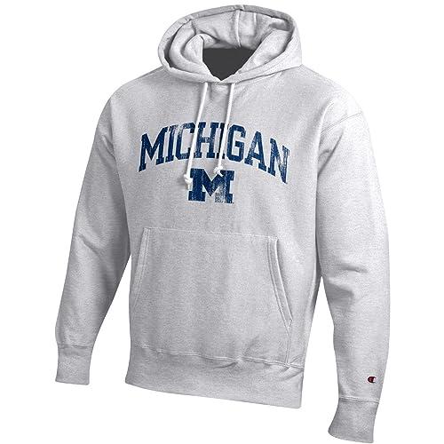 ea463f4c Champion NCAA Mens NCAA Men's Reverse Weave Gray Arch Long Sleeve Hooded  Sweatshirt