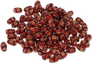 100 Stück gedruckt Holz Boho Perlen Schmuck machen Charms lose Spacer