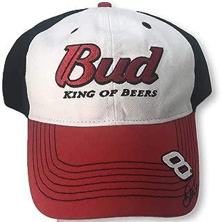 Checkered Flag Dale Earnhardt Jr #8 Vintage Bud Adjustable Hat red