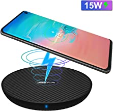 Nillkin 15W Wireless Charger, Fast Qi Wireless Charging Pad Anti-Slip with Sleep-Friendly LED Cooling Fan for iPhone X/Xs/Xs Max/XR/8/8 Plus Samaung Galaxy S10/S10+/S9/S9+/S8+