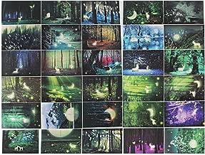 Mingo 30pcs Vintage Luminous Postcard Glow In The Dark Forest