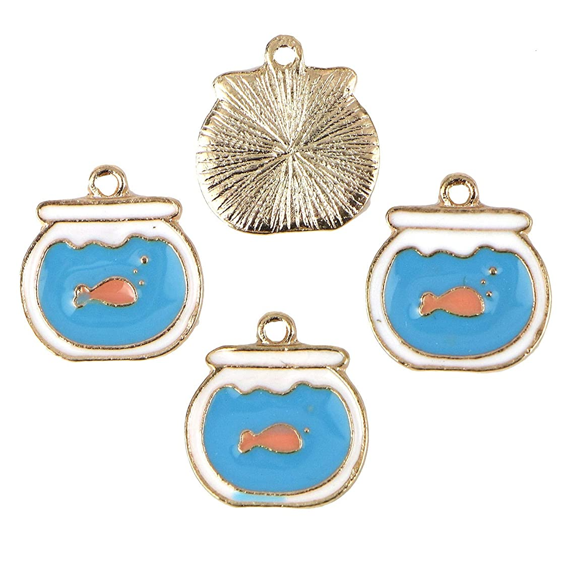 Monrocco 20Pcs Enamel Fish Tank Charm Pendant for Jewelry Making and Crafting
