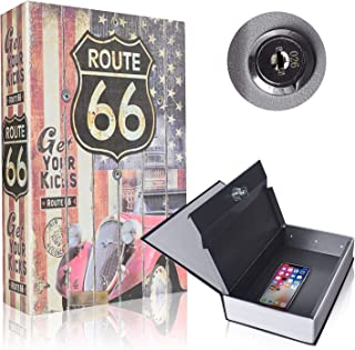 Book Safe with Metal Lock Box - HENGSHENG Hidden Secret Diversion Book Safe with Key Lock,Full Size 9.5 x 6.1 x 2.1 inches