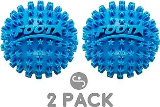 Body Back Foot Star Massage Balls, Feet/Plantar Fasciitis Roller, Foot Stress Relief Balls, Pack of 2, Blue