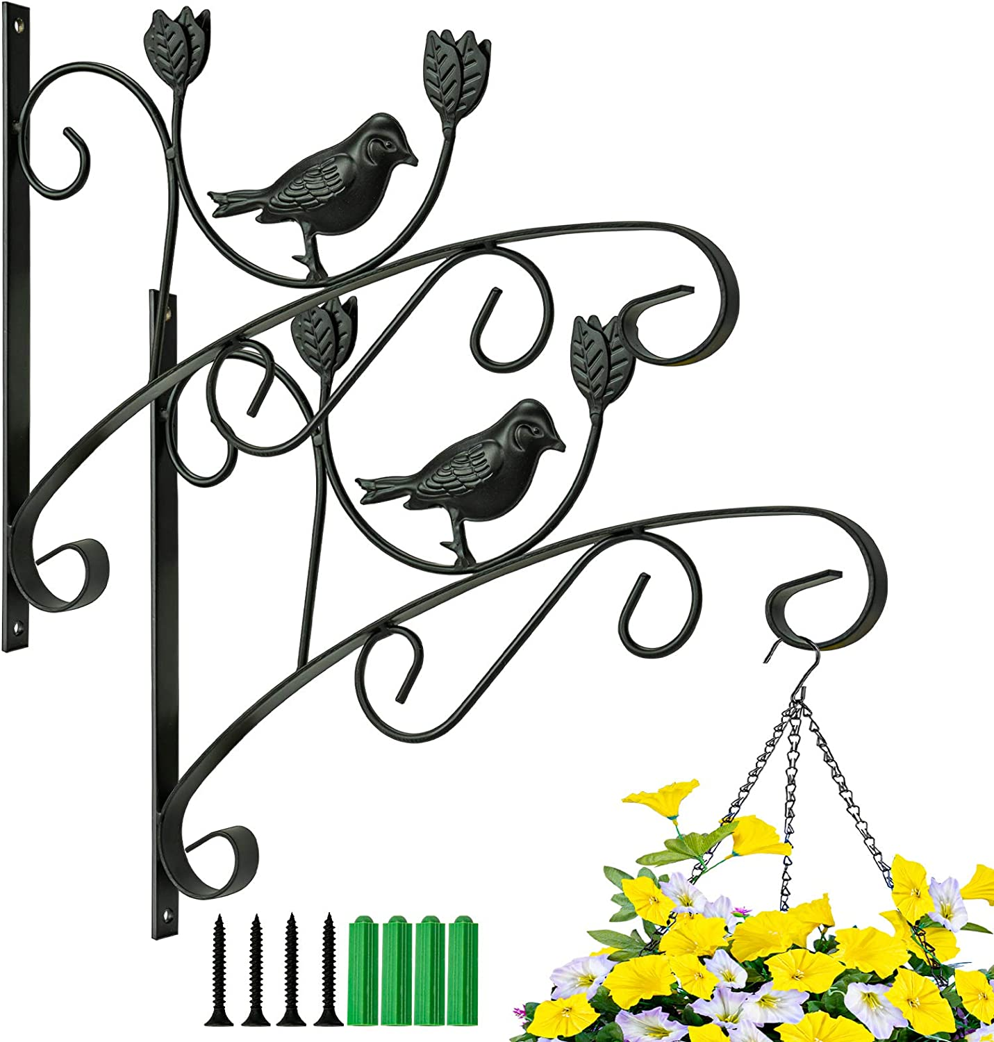 Kingbuy Wall Special sale item Fort Worth Mall Plant Hanger Iron Hook Flower for Hanging Bracket B