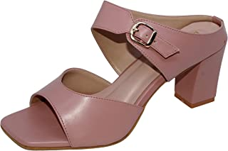 W-Liberty Women's Comfortable & Fashionable Artificial Heels (Peach)
