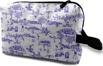 Makeup Bag Hamptons Golf Travel Bag, Large Cosmetic Bag/Portable Multifunction Organizer Pouch/Waterproof/Girls/Shopping