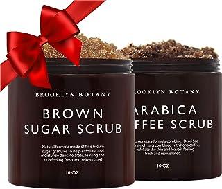 Brooklyn Botany Brown Sugar Body Scrub & Arabica Coffee Body Scrub - Exfoliating Body Scrub – Anti Cellulite Scrub Helps F...
